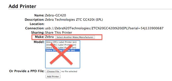 Set Up a Label Printer on a Mac OS X | CerTek Software