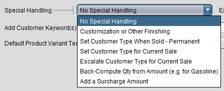 Category Handling