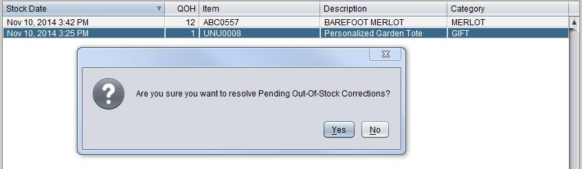 Pending Stock Correction 1