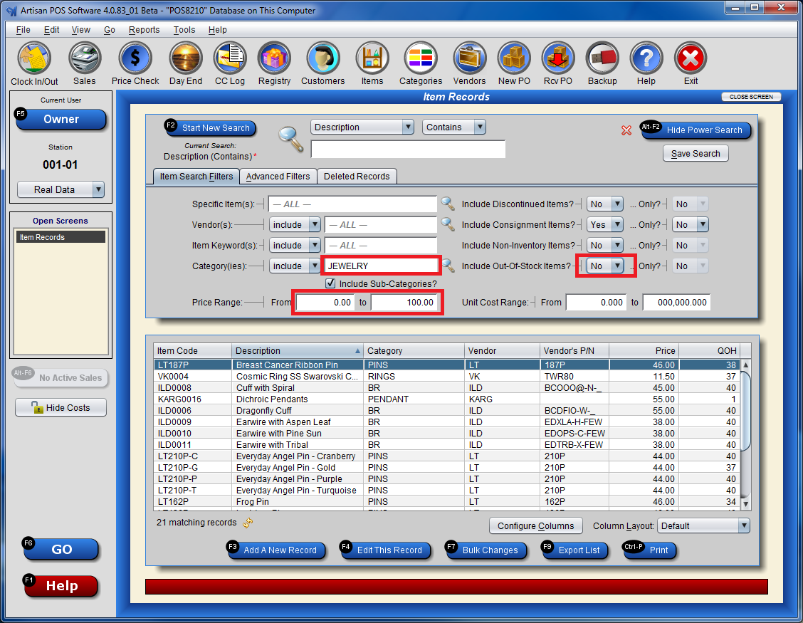 Using the Power Search Feature | CerTek Software