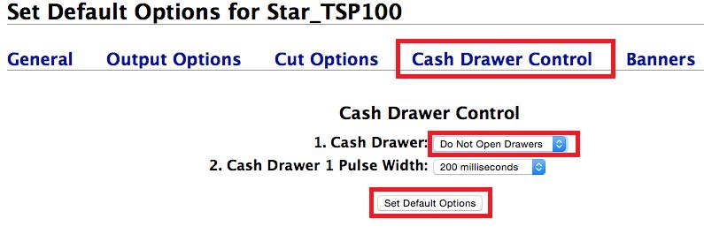 Cash Drawer Control