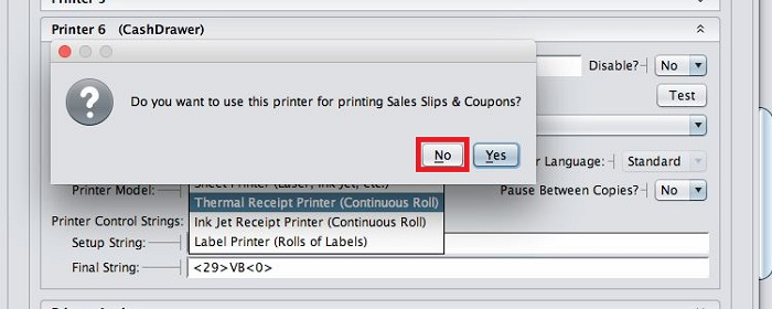No-for Sales Slips
