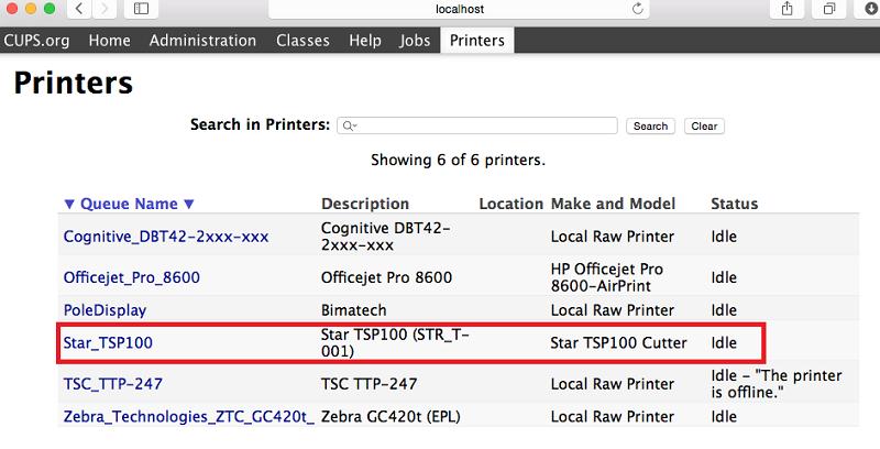Select Star Printer