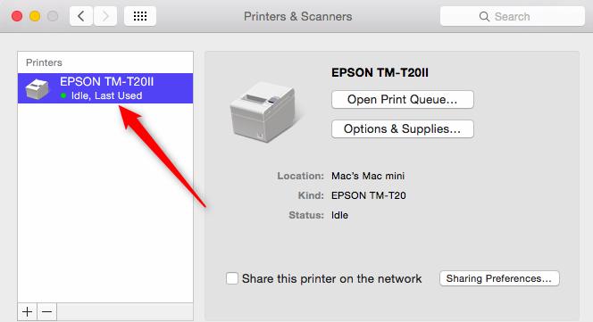Epson TM-T20 Printer Setup – Mac   CerTek Software