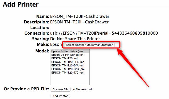 Epson TM-T20 Printer Setup – Mac | CerTek Software