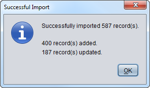 Import-confirmation