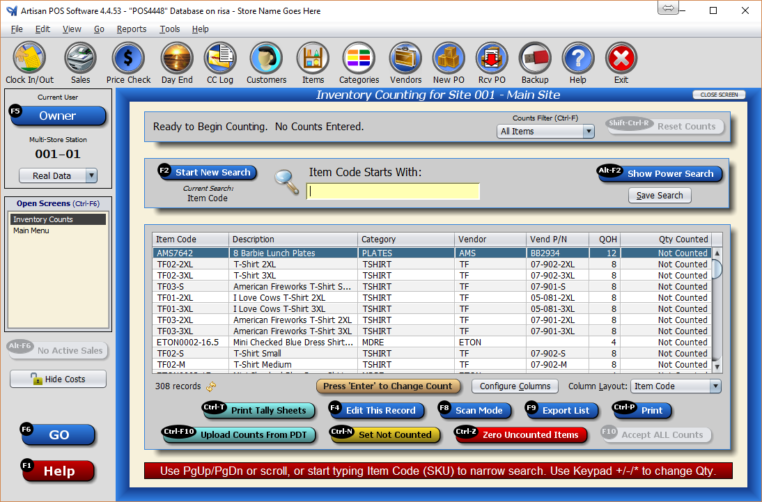 Physical Inventory Counting Certek Software