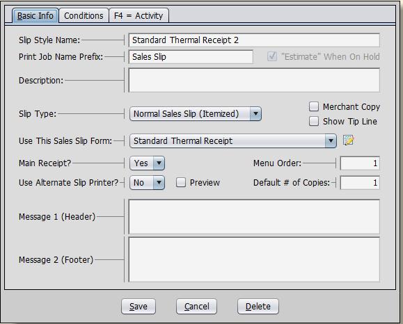 Removing Customer Information From Receipts   CerTek Software