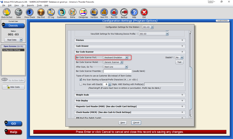 Troubleshooting your bar code scanner | CerTek Software